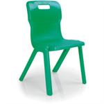 Titan Size 5 Red One Piece School Chair