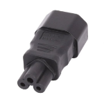 Lindy 30453 IEC C14 IEC C5 Black cable interface/gender adapter
