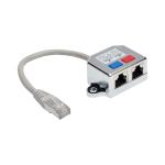 Tripp Lite 2-to-1 RJ45 Splitter Adapter Cable, 10/100 Ethernet Cat5/Cat5e (M/2xF), 15.24 cm
