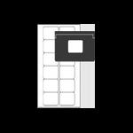 Avery L7671-25 printer label White Self-adhesive printer label