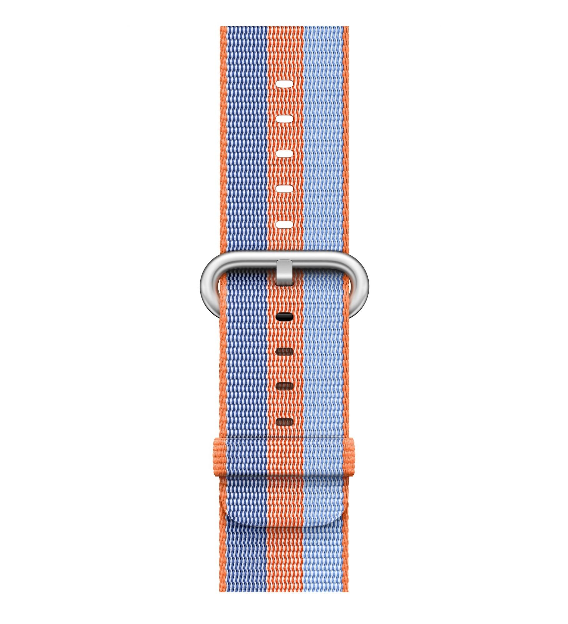 Apple 38mm Orange Woven Nylon