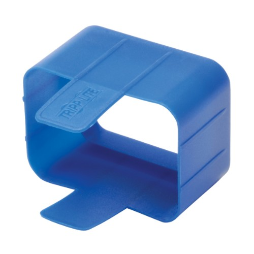 Tripp Lite Plug-lock Inserts keep C20 power cords solidly connected to C19 outlets, BLUE color, Package of 100