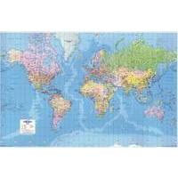 MAPMARK MAP GIANT WORLD POLITICAL MAP LAMIN GWLD