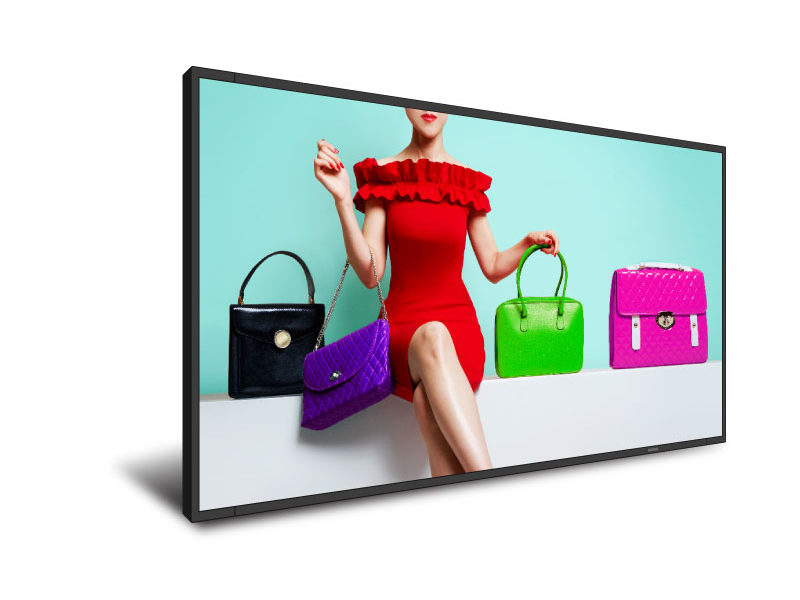 "DynaScan DS851LR4-1 signage display 2.16 m (85"") LED 4K Ultra HD Digital signage flat panel Black Bu"