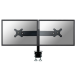 """Newstar Tilt/Turn/Rotate Dual Desk Mount (clamp) for two 19-30"""" Monitor Screens, Height Adjustable - Black"""