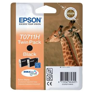Epson Twinpack Ink cartridge Black T0711H, twin pack T0711H DURABrite Ultra Ink C13T07114H10