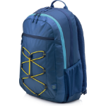 HP Active (Navy Blue/Yellow) backpack Fabric Blue,Yellow 1LU24AA#ABB