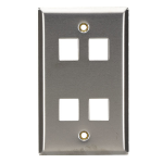 Black Box WP373 wall plate/switch cover Metallic