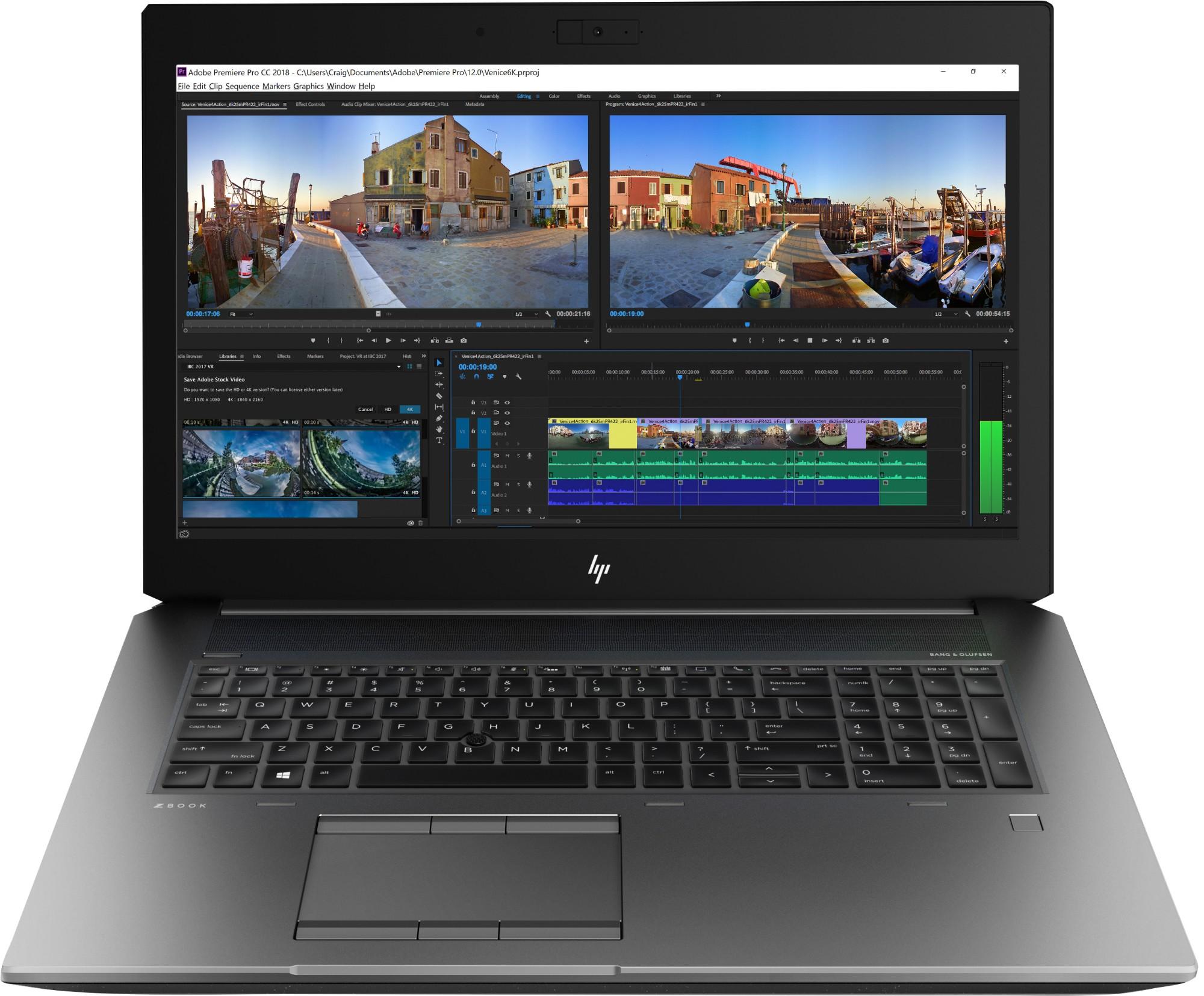 "HP ZBook 17 G5 Black,Silver Mobile workstation 43.9 cm (17.3"") 1920 x 1080 pixels Intel® Xeon® 32 GB DDR4-SDRAM 512 GB SSD Windows 10 Pro for Workstations"