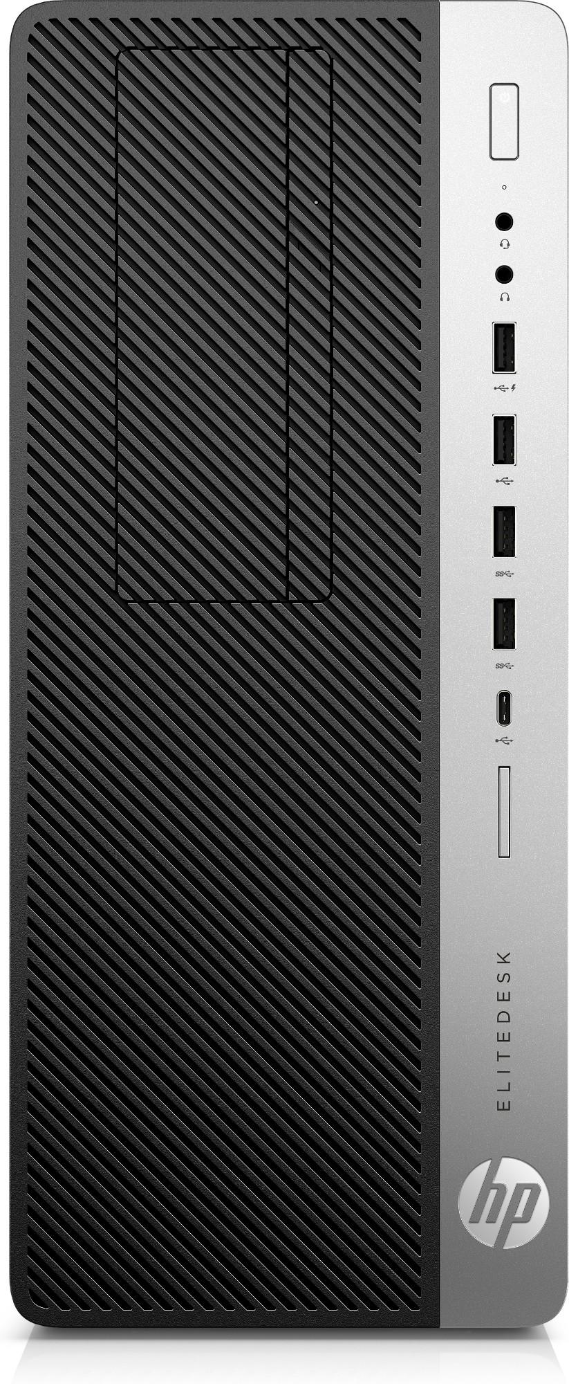 HP EliteDesk 800 G5 9na generación de procesadores Intel® Core™ i5 9500 8 GB DDR4-SDRAM 256 GB SSD Tower Negro PC Windows 10 Pro