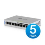 Ubiquiti Networks UniFi Switch 8-port 60W with 4 x 802.3af PoE Ports - 5 Pack includes power supply