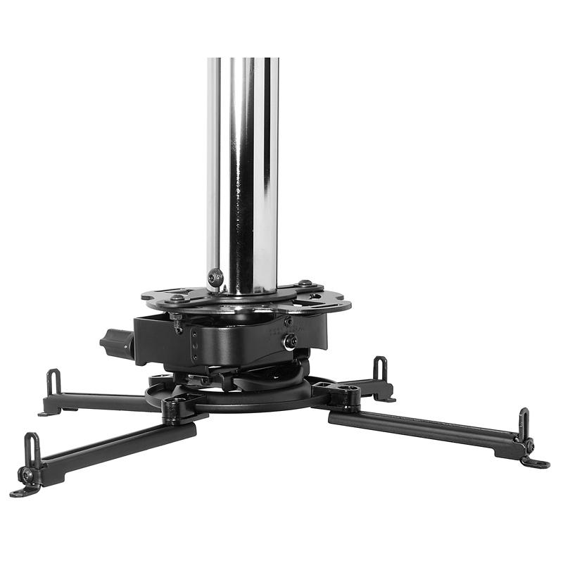 Peerless MOD-PRSSKIT100 montaje para projector Techo Negro, Cromo