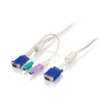 LevelOne 3m KVM Cable, VGA, PS/2, USB