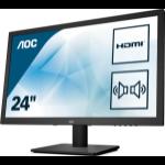 "AOC Essential-line E2475SWJ LED display 59.9 cm (23.6"") 1920 x 1080 pixels Full HD Black"