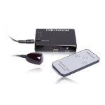 LMS 3 Port HDMI Switch with Remote Control, Black (C-HDMI31)