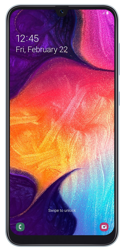 "Samsung Galaxy A50 SM-A505F 16.3 cm (6.4"") 4 GB 128 GB Dual SIM White 4000 mAh"