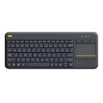 Logitech K400 Plus RF Wireless QWERTZ Hungarian Black keyboard