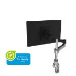 R-Go Tools R-Go Zepher 4 C2, Single Monitor Arm, Desk Mount, Adjustable, 0-8 kg, Black-Silver, Low Carbon Footprint
