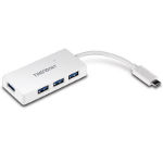 Trendnet TUC-H4E interface hub USB 3.2 Gen 1 (3.1 Gen 1) Type-C 5000 Mbit/s White