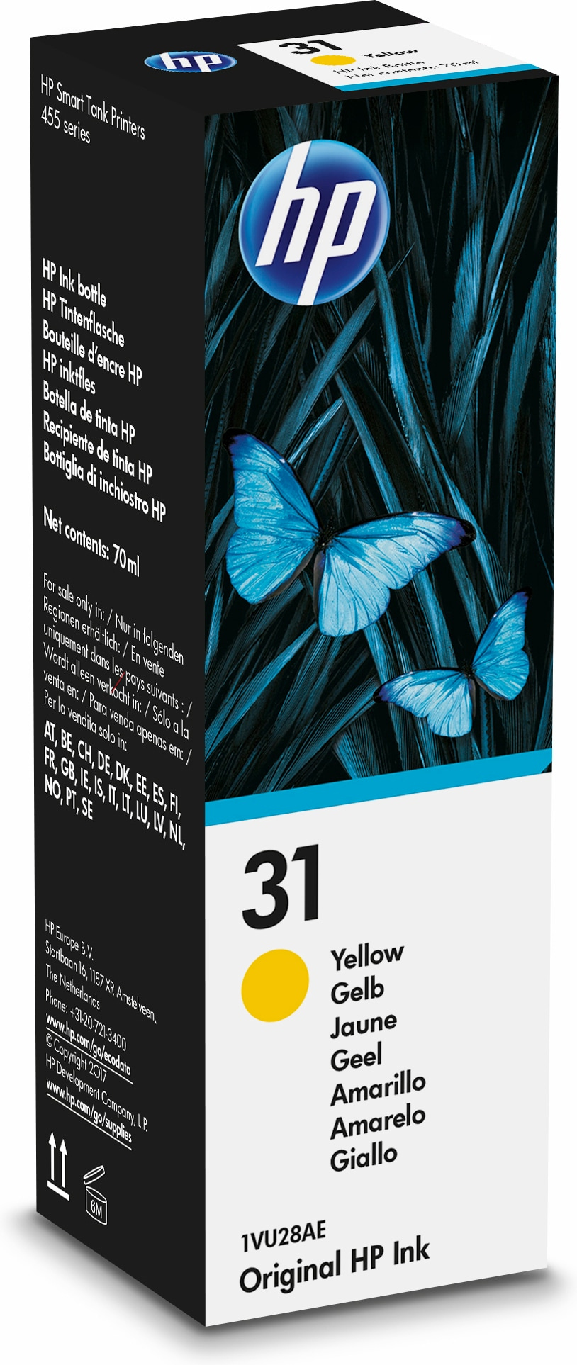 HP 31 70-ml Yellow Original Ink Bottle