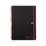 Black n' Red Book Wirebound Recycled Polypropylene 90gsm 140pp A4 Ref 100080167 [Pack 5]