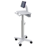Ergotron StyleView Tablet Cart, SV10 Multimedia cart Aluminum, White