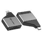 ALOGIC ULCSDMN-SGR card reader USB 3.2 Gen 1 (3.1 Gen 1) Type-C Black, Gray