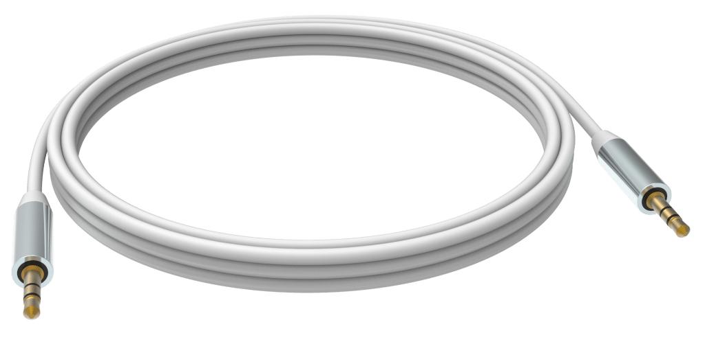 Vision TC 5M3.5MMP cable de audio 5 m 3,5mm Blanco