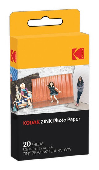 KODAK ZINK PHOTO PAPER INSTANT PICTURE FILM 50 X 76 MM 20 PC(S)