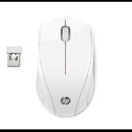 HP X3000 mouse Ambidextrous RF Wireless Optical 1200 DPI