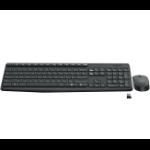 Logitech MK235 keyboard RF Wireless Czech Black