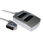 Cables Direct 3 Way SCART Splitter Box SCART cable 0.4 m Scart 21pin Silver