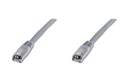 Digitus Premium CAT 5e SF-UTP cable de red 5 m Cat5e SF/UTP (S-FTP) Gris