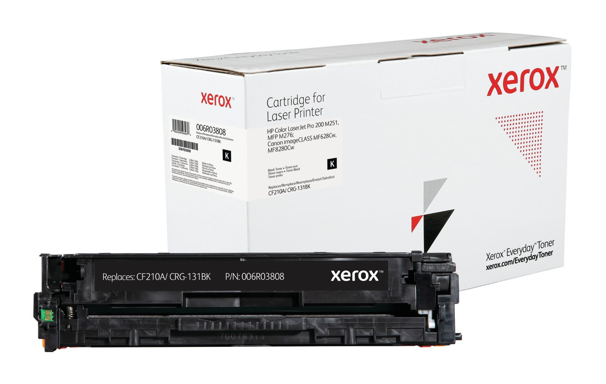 Xerox Tóner de Rendimiento estándar Negro Everyday, HP CF210A/ CB540A/ CE320A/ CRG-116BK/ CRG-131BK equivalente de , 1600 páginas