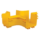 Tripp Lite SRFC5JUNT4 Toolless Horizontal 4-Way Junction for Fiber Routing System, 120 mm (5 in.)
