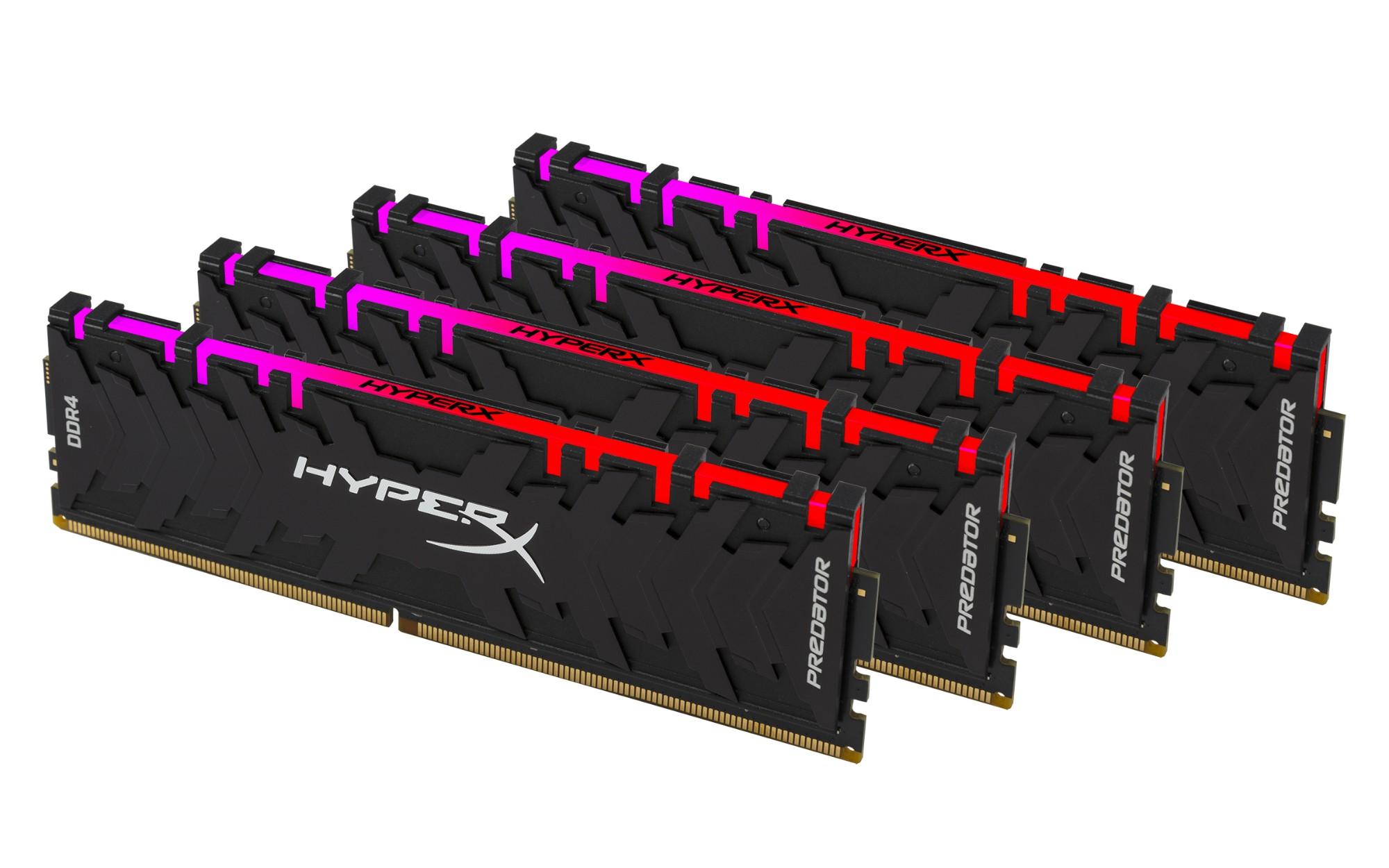 DDR4 2933MHz 32GB 4x8 HyperX Pred RGB