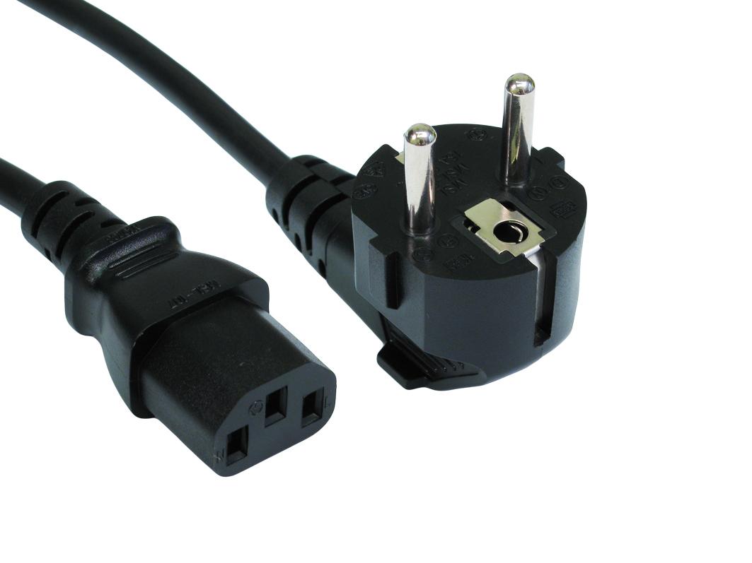 Cables Direct Euro - IEC (C13) 3m power cable Black C13 coupler