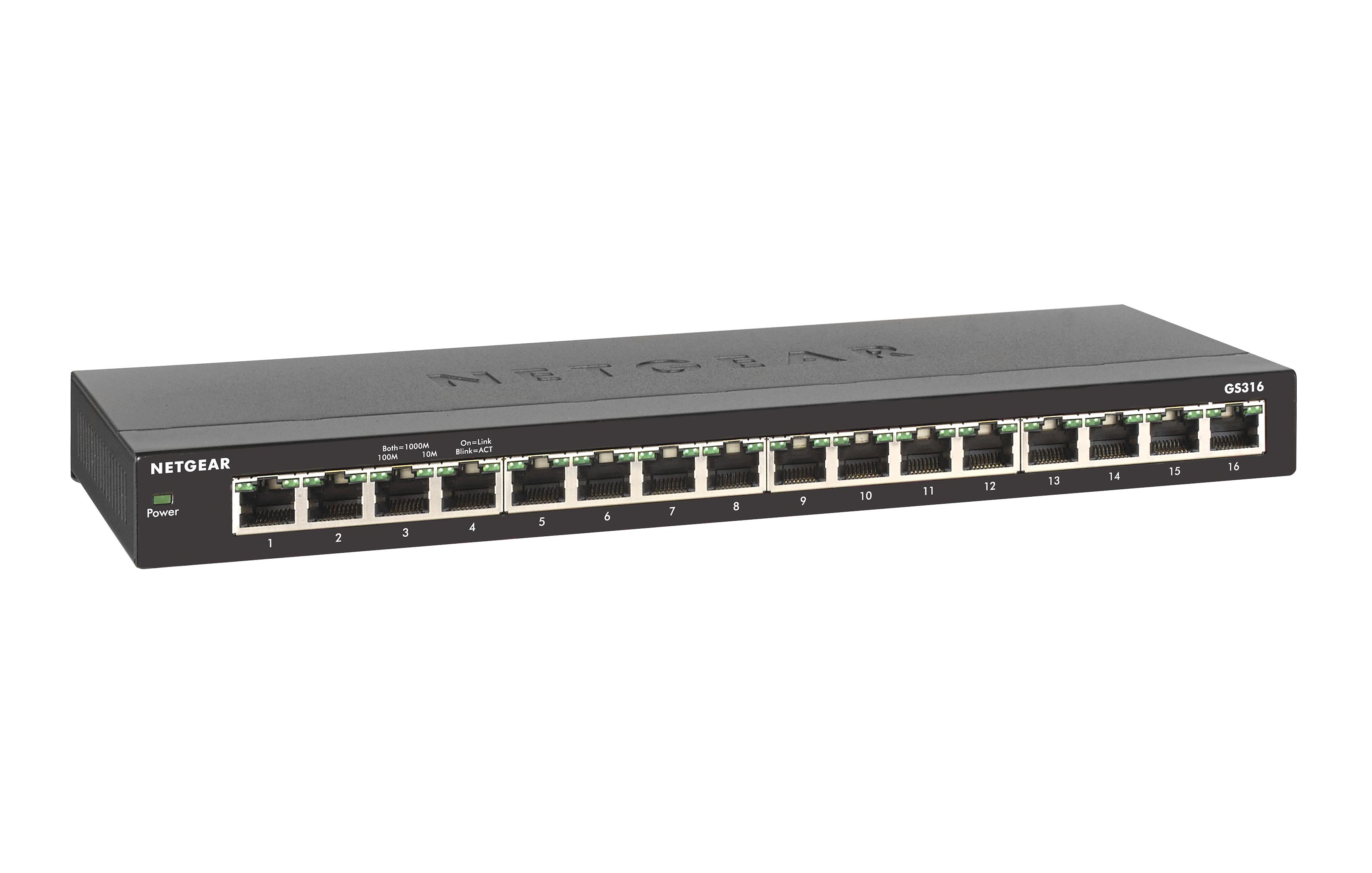 Netgear Gs316 Unmanaged Gigabit Ethernet 10 100 1000