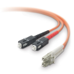 "Belkin 3m LC / SC fiber optic cable 118.1"" (3 m) OFC Orange"