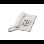 Panasonic KX-TS500 Analog telephone Identificador de llamadas Blanco dir