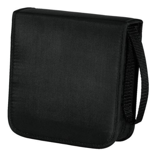 Hama CD Wallet Nylon 40, black 50discs Black
