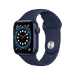 Apple Watch Series 6 40 mm OLED 4G Azul GPS (satélite)