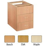 JEMINI FF JEMINI 3 DRAWER FIXED PED OAK