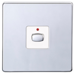 EnerGenie MIHO008 light switch Chrome, White