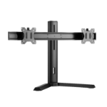 Brateck Dual Screen Classic Pro Gaming Monitor Stand Fit Most 17'- 27' Monitors, Up to 7kgp per screen-Black