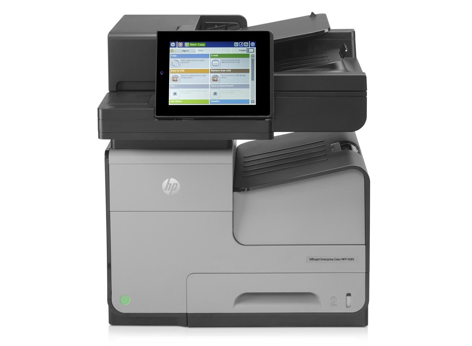 HP OfficeJet Enterprise Color Flow MFP X585zm Inkjet A4 Grey