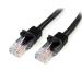 StarTech.com 45PAT50CMBK 0.5m Cat5e U/UTP (UTP) Black networking cable