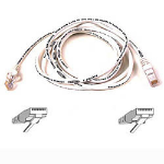 Belkin Cable patch CAT5 RJ45 snagless 1m white networking cable