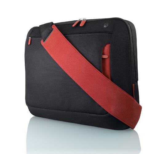 """Belkin Messenger Bag 17"""", Jet/Cabernet"""