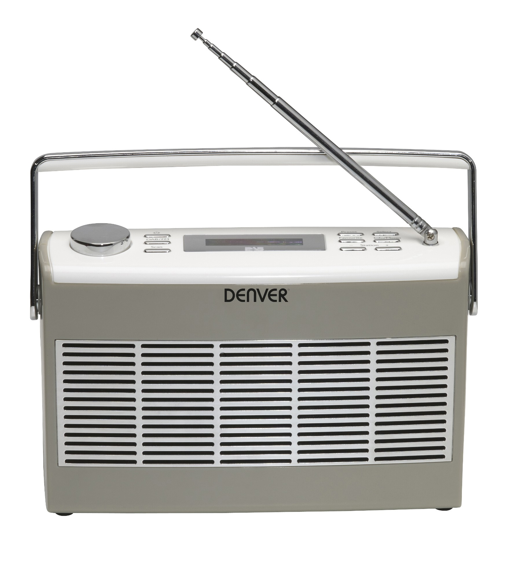 Denver Electronics DAB-37GREY Portable Digital Grey, White radio